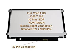 """Au Optronics B116xtn01.0 Side Brackets Replacement LAPTOP LCD Screen 11.6"""" WXGA HD LED DIODE (Substitute Replacement LCD Screen Only. Not a Laptop )"""