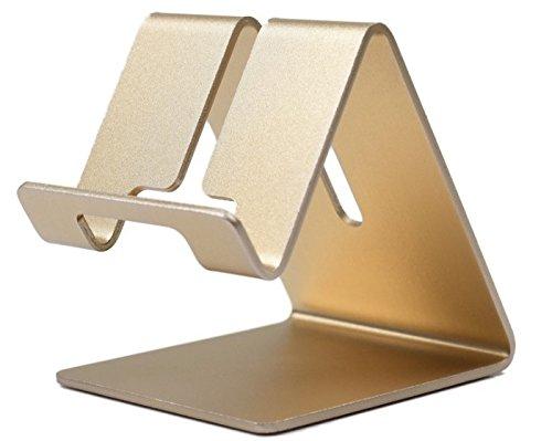 Sherry E Handy Ständer-Aluminium Massiv Tragbare Universelle Schreibtisch Ständer, Goldfarben