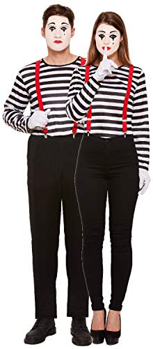 Budget Price French Mime Artist Couple Costumes for Men and Women