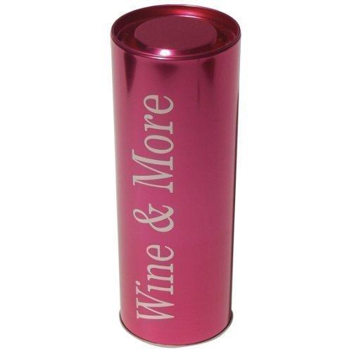 Flaschendose Wein Metall Farbe Pink von James Premium