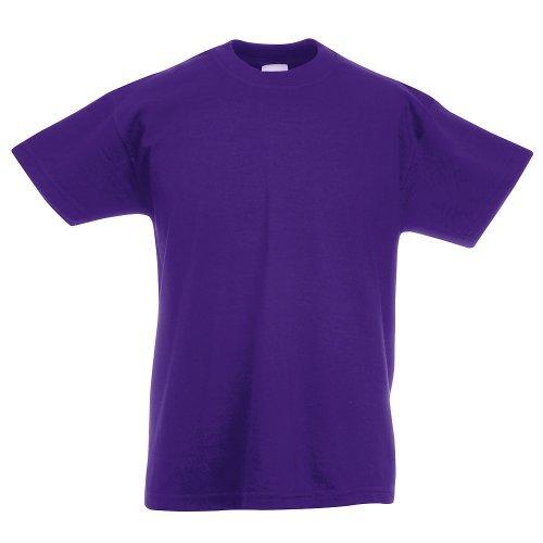 Fruit of the Loom - Kids Value Weight T / Purple, 104 104,Purple