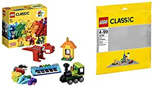 Lego Bricks and Ideas set with Gray Baseplate