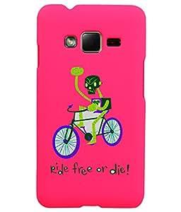 KolorEdge Back Cover For Samsung Galaxy Z1 - Pink (1417-Ke15101SamZ1Pink3D)