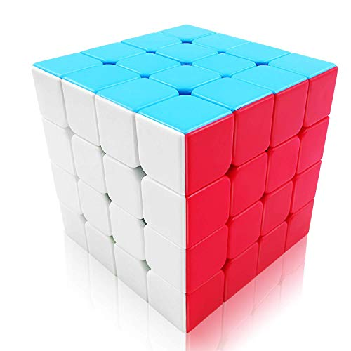 FAVINC Speed Cube 4x4 Stickerless Puzzle Magic Cube for Kids, Twist Travel  Toys