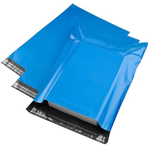 METRONIC 100PCS 22,9x 30,5cm blau Poly Mailer Protected Briefumschläge Versand Taschen mit selbst selbstklebend, wasserabweisend und reißfest Bags Versandtaschen,