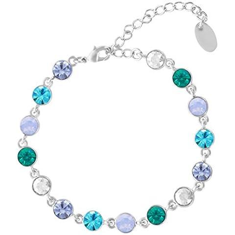 Yparah - Bracciale da donna con cristalli Swarovski, colore: blu