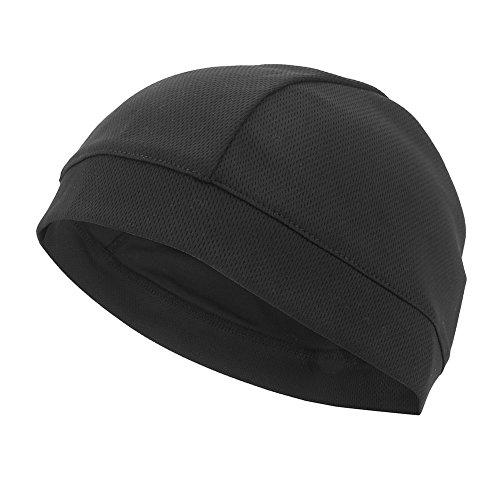 Unter Helm Cap Helmkappe Windproof Kopfwärmer Staubdicht für Radfahren (Black)