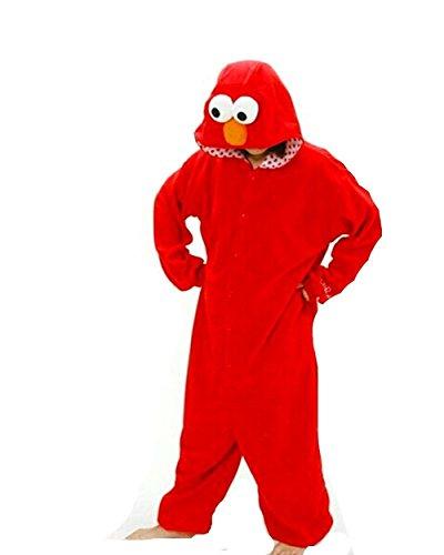 Mcdslrgo Kostum/Einteiler für Damen Herren Unisex Erwachsene, rot, - Monster-pyjama Herren-cookie