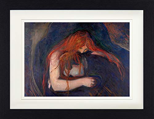 1art1 114300 Edvard Munch - Vampir, 1895 Gerahmtes Poster Für Fans Und Sammler 40 x 30 cm -