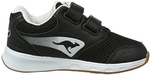 KangaROOS Rodo V, chaussons d'intérieur mixte enfant Noir (noir/blanc)