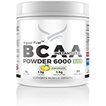 VIGOUR FUEL Bcaa Instantized 6000, 400 G (55 Servings) Lemonade
