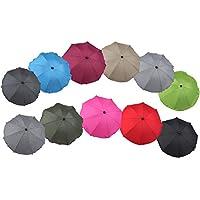Clamaro 'SUNCOVER' Universal Sonnenschirm Regenschirm für Kinderwagen und Sport Buggy (11 Farben), Babywagen Schirm mit Universal Halterung mit 360° flexiblen Schwanenhals
