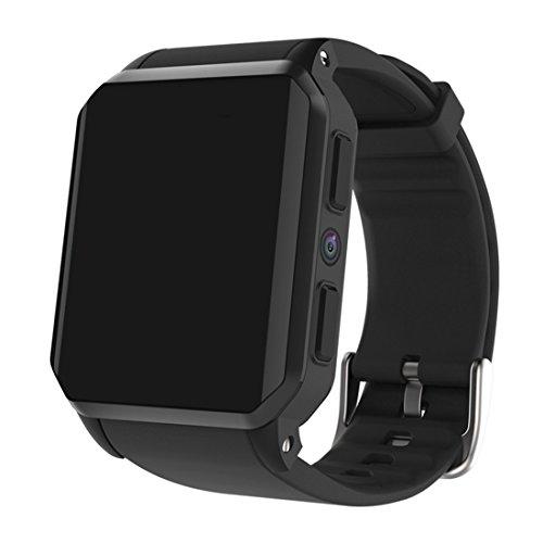 N8 Smart Uhren PK LEF1 LEM5 Android 5.1 512 RAM 8 GB ROM GPS Wifi Bluetooth 4,0 Schrittzähler Kamera 0,3 MTK6580 Männer Smartwatch,Black 363 Gps