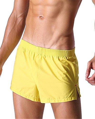 Bóxers amarillos ajustados. Ropa Interior hombre amarilla.
