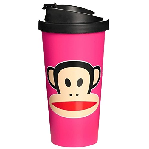 Paul Frank F20101002 - Vaso tipo Starbucks, color rosa
