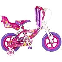 Sonic Daisy Girls Bike - White/Pink, 12 Inch