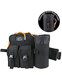Tactical Fanny Pack FC Energy Waist Pack Belt Bag Hip Sack Pouch Waterproof 1000D Nylon With Water Bottle Holder...