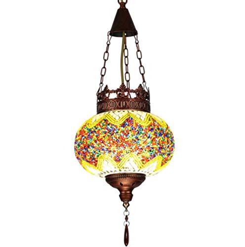 Kronleuchter Europäischer Glas-LED Tiffany Kreativer Schmiedeeisen-Wohnzimmer -