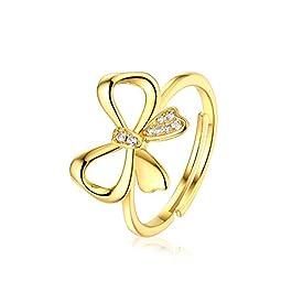 Zxllyntop Anelli da Donna Fashion Personality Jokers Cute Sweet Bow Open Rings Anelli da Donna per Le Donne Ragazza