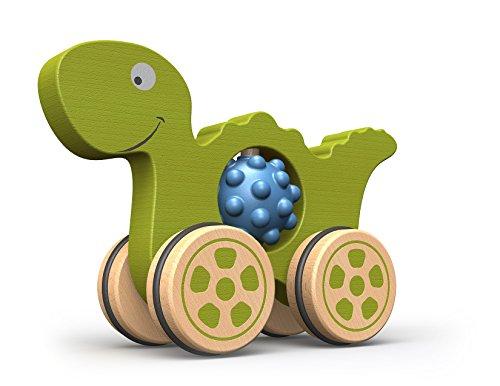 beginagain Nubble Rumblers–Dino Spielzeug–Holz Spielzeug Dinosaurier für Kleinkinder und bis–Push Spielzeug für taktile Play und Feinmotorik Entwicklung–Sicher Und