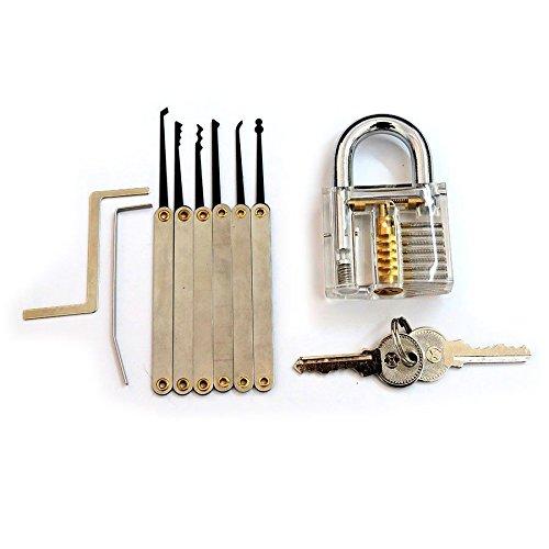 KD Bargains transparent Praxis Vorhängeschlösser mit 6Entriegelung Lock Pick Set Key Extractor Tool Lock Pick Tools (Kd Extractor)