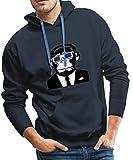 Spreadshirt Urban Electro 3D Affe Männer Premium Hoodie, M, Navy