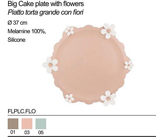 Plat à tarte Grand Baci Milano en porcelaine avec accessoire en silicone flplc.Flo différents couleurs FLPLC.FLO-TORTORA taupe
