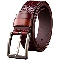 Cintura Uomo,WINWINTOM Cintura In Pelle Di Svago
