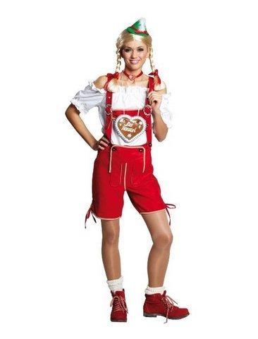 Dirndl Bluse, Oktoberfest, Tracht, Karneval, Fastnacht (Kostüm Tiroler Bauer)