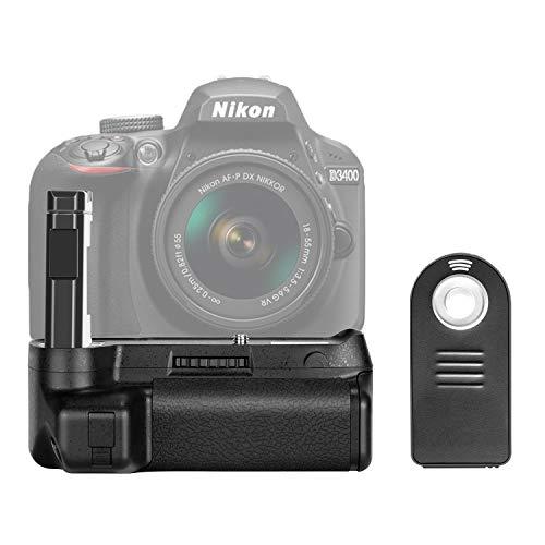 Neewer NW-D3400 Batteriegriff für Nikon D3400 DSLR-Kamera, vertikaler Auslöseknopf, funktioniert mit einem oder Zwei EN-EL14a Akku