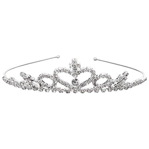 Frcolor Birthday tiara corona da principessa per bambine a forma di cuore festa di compleanno