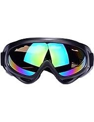 JTENG Masques et lunettes Ski Snowboard Lunettes Motoneige Moto Lunettes de protection Lunettes Lens Anti-poussière, lunettes équitation coupe-vent, lunettes de moto, lunettes de ski