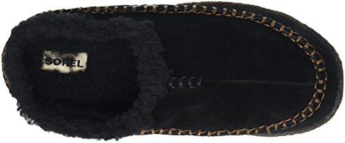 Sorel Falcon Ridge, Herren Flache Hausschuhe Schwarz (Black, Nutmeg 011Black, Nutmeg 011)