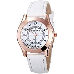 Geneva Platinum Rolling Zircon White Women's Timepiece - GP-340