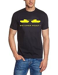 Bis einer heult T-Shirt dunkelblau / gelb