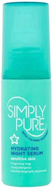 Superdrug S/D Simply Pure Night Serum, 50 ml
