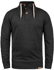 SOLID TripTroyer Herren Sweatshirt Pullover Sweater mit Stehkragen aus hochwertiger Baumwollmischung