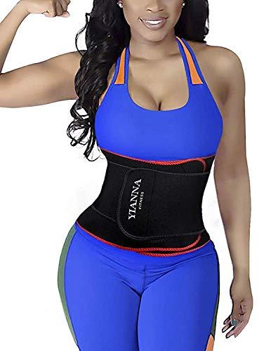 YIANNA Abnehmen Bauchweggürtel 12 Stahlknochen Waist Trimmer Slimming Belt für Herren und Damen,UK-YA8010-Red-XL - Taille Trimmer Workout Gürtel