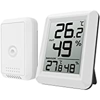 Oria Digital Thermometer Hygrometer, Indoor/Outdoor Humidity Meter, Temperature Monitor with Wireless Sensor, 328ft/100m Range, °C/°F Selectable, 60s Auto Refresh for Home, Office, Greenhouse etc.
