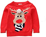 Toctax Suéter de Bebé Navidad Dibujos Animados de Jersey de Navidad Bordado Prendas de Punto Espesar Suéter Je