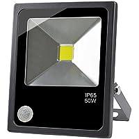 GLW 50W LED Sensore di Movimento Faretto Super Bright Daylight Proiettore con PIR All'aperto IP65 Impermeabile Luce di Sicurezza 6000k 4500lm 3.28ft filo 240V Luce a Muro per Yard Corridoio Magazzino