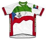 ecuatoria Guinée drapeau à manches courtes Maillot de cyclisme pour femme Large Blanc - blanc