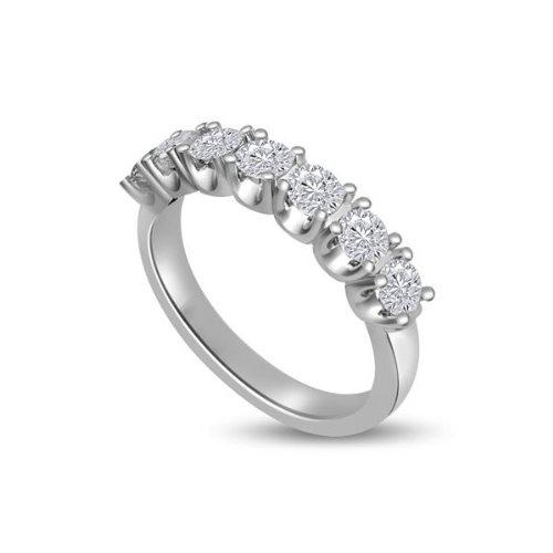 1.05ct H/SI1 Diamante Half Eternity Anello da