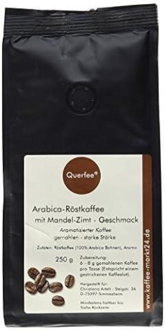 Querfee Kaffee mit Geschmack - Mandel Zimt - Arabica Röstkaffee - gemahlen - 250 g, 1er Pack (1 x 250 g)