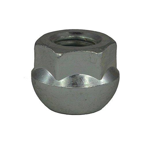 EvoCorse Écrou de roue ouvert M12x1.5, Assise sperique, Clé 19, Longueur 18 mm, Blanc galvanisé, 4 pcs