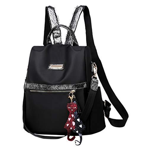 Designer Handtasche Nylon (Ncenglings Damen Rucksack Nylon Handtaschen Mode Daypack Solide Wild Umhängetasche Anti Diebstahl und Wasserdicht Reiserucksack S Elegant Freizeitrucksack Rucksackhandtaschen)