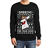 Ugly Christmas Jesus Dabbing for Your Sins Pulli Sweatshirt Small Schwarz