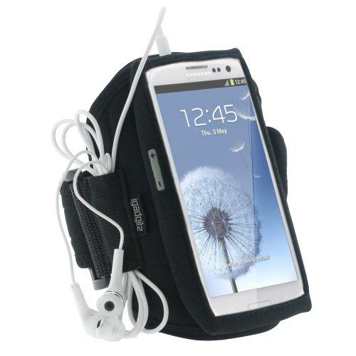 Adidas Chip (igadgitz Neopren Sportarmband für Samsung Galaxy S3I9300, Schwarz)