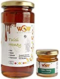 WOW BUZZING BEE - Raw Natural Unprocessed Raw Tulsi Forest Flower Honey 550 GMS & Get Free Another Flavour Raw Flower…