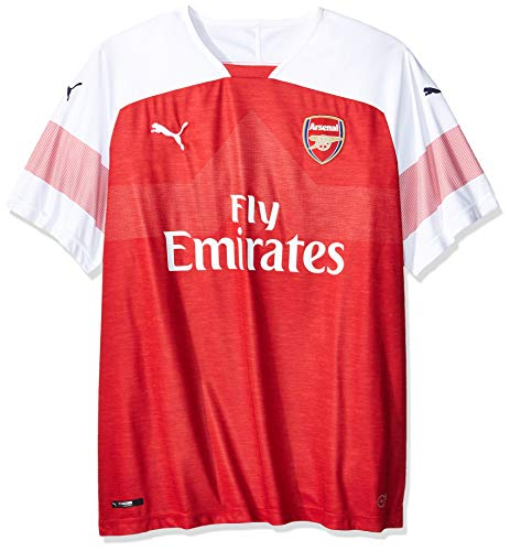 362a8ec06deef PUMA 2018/19 Arsenal FC HOME Shirt Replica SS with EPL Sponsor Logo - Chili  Pepper Heather-White-Chili Pepper - 3XL
